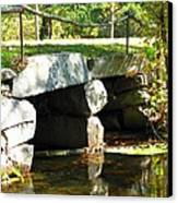 Old Stone Bridge Canvas Print by Barbara McDevitt