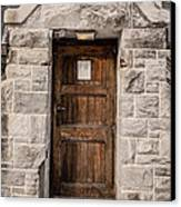 Old Stone Church Door Canvas Print