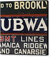 Old Subway Signs Canvas Print by Dave Mills