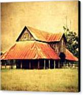 Old Texas Barn Canvas Print by Julie Hamilton