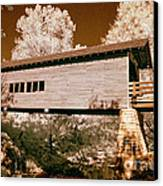 Old Time Covered Bridge Canvas Print