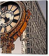 Old Time - Nyc Canvas Print by Linda  Parker
