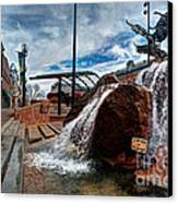 Old Town Fountain Canvas Print by JulieannaD Photography