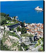 Old Town Nafplio And Ruins Canvas Print