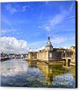 Old Town Walls Concarneau Brittany Canvas Print