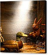 Old Toys In The Attic Canvas Print by Olivier Le Queinec