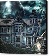 Old Victorian House Canvas Print by Mo T