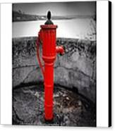 Old Water Pump Kinsale Canvas Print by Maeve O Connell