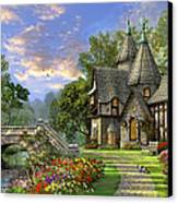 Old Waterway Cottage Canvas Print