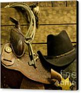 Old West Marshal Canvas Print by Ron Hoggard