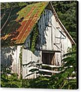 Old Whitewashed Barn In Tennessee Canvas Print by Debbie Karnes