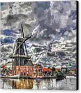 Old Windmill On The Shore Canvas Print by Maciej Froncisz