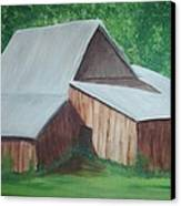 Old Wood Barn Canvas Print by Melanie Blankenship