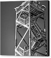 Old Wooden Watchtower Key West - Black And White Canvas Print by Ian Monk