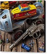 Older Roller Skate And Toys Canvas Print