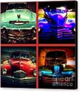 Oldtimer Collage Canvas Print