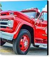 Ole Time Fire Truck Series 1 Canvas Print by Kelly Kitchens