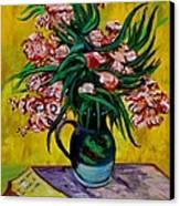 Oleanders Canvas Print by Karon Melillo DeVega