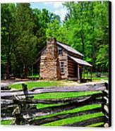 Oliver Cabin 1820s Canvas Print by David Lee Thompson