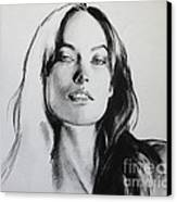 Olivia Wilde Canvas Print by Miguel Lopez