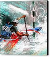 Olympics Canoe Slalom 02 Canvas Print by Miki De Goodaboom