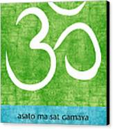 Om Asato Ma Sadgamaya Canvas Print by Linda Woods