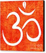 Om Spice Canvas Print by Linda Woods