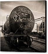 Ominous Train Under Dark Skies In New Orleans Canvas Print by Louis Maistros