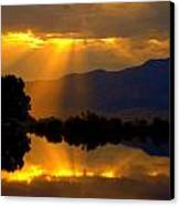 On Golden Pond Canvas Print by Jeanne  Bencich-Nations