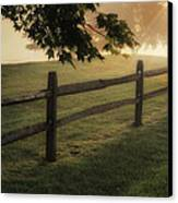 On The Fence Canvas Print by Bill Wakeley