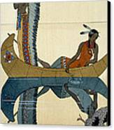 On The Missouri Canvas Print by Georges Barbier