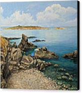 On The Rocks In The Old Part Of Sozopol Canvas Print