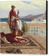 On The Terrace Tangiers Canvas Print by Rudolphe Ernst