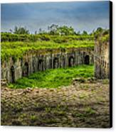 On Top Of Fort Macomb Canvas Print by David Morefield