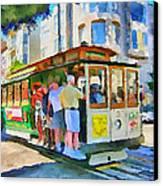 On Tram In San Francisco Canvas Print by Yury Malkov