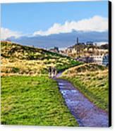 One Golden Day In Edinburgh's Holyrood Park Canvas Print