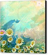 One Pink Daisy Canvas Print by Bedros Awak