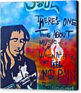 One Thing About Music Canvas Print by Tony B Conscious