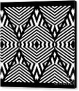 Op Art Black White Pattern Print No.336. Canvas Print by Drinka Mercep