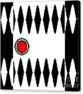 Op Art Black White Red Minimalist Geometric Abstract Print No.277 Canvas Print by Drinka Mercep