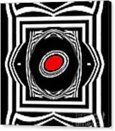 Op Art Geometric Black White Red Abstract Print No.33. Canvas Print by Drinka Mercep