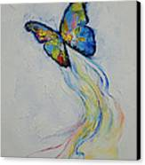 Opal Butterfly Canvas Print by Michael Creese