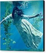 Ophelia Canvas Print by Daniel Eskridge