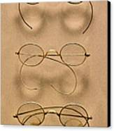 Optometrist - Simple Gold Frames Canvas Print by Mike Savad