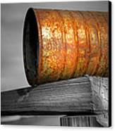 Orange Appeal - Rusty Old Can Canvas Print by Gary Heller