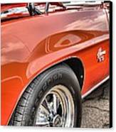 Orange Chevelle Ss 396 Canvas Print by Dan Sproul
