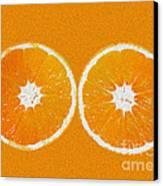 Orange Eyes Canvas Print by Victoria Herrera