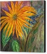 Orange Flower Canvas Print by Anais DelaVega