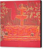Orange Fountain Canvas Print by Marcia Meade