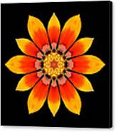 Orange Gazania I Flower Mandala Canvas Print by David J Bookbinder